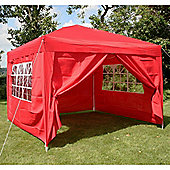 Airwave Pop Up Gazebo Fully Waterproof 3x3m in Red