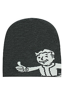 Fallout 4 Vault Boy Approves Grey Beanie - Silver