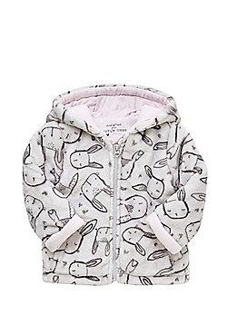 F&F Bunny Print Fleece Jacket - Grey