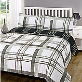 Duvet Cover with Pillowcase Set, Poole Check - Black