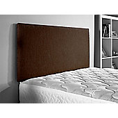 ValuFurniture Chenille Fabric Headboard - Brown - King 5ft