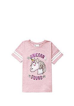 Emoji Unicorn Squad T-Shirt - Pink