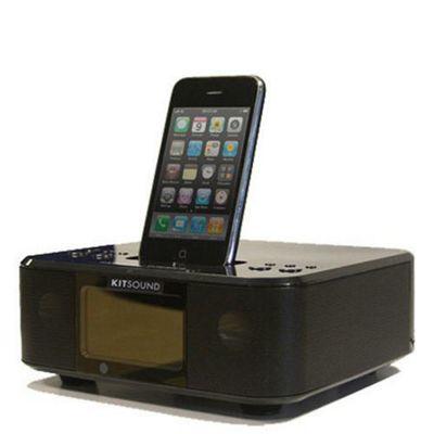Kitsound Boom Clock iPod/iPhone Radio Alarm Speaker
