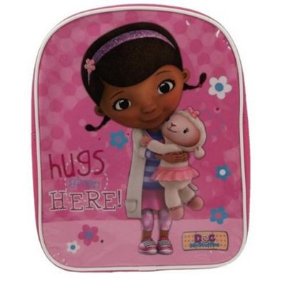 Doc Mcstuffins Hugs Given Here PVC Front Backpack