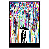Gloss Black Framed Marc Allante Raining Colour Poster 61x91.5cm