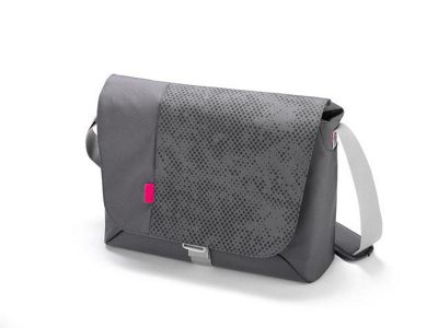 Dicota Bounce Messenger Bag (Grey/Pink) for 15 inch - 16.4 inch Notebooks