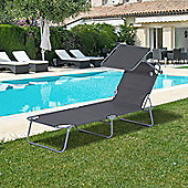 Outsunny Reclining Lounger Adjustable Portable