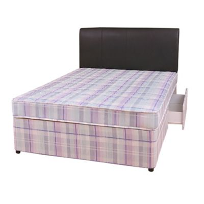 Comfy Living 4ft6 Double Eco Divan Set with 2 Draw Storage