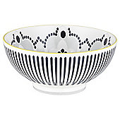 Kenza Large Serving Bowl black and yellow