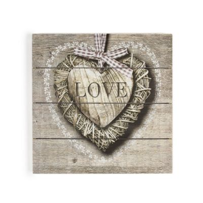 Art for Home Love Print on Wood