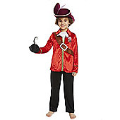 Disney Peter Pan Captain Hook Dress-Up Costume - Red & Black