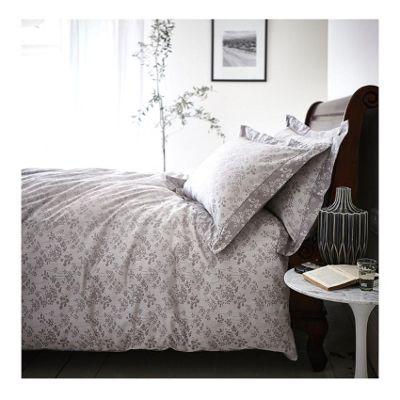 Bianca Cotton Soft Sprig Grey Jacquard Duvet Cover Set - Single