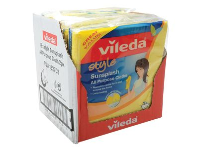 Vileda Style Sunsplash All Purpose Cloth x 2 (Box of 12)