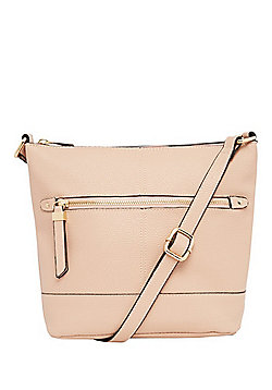 F&F Grained Cross-Body Bucket Bag