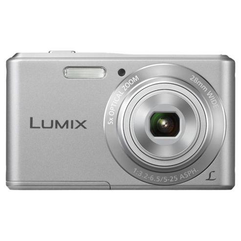 Panasonic Lumix DMC-F5EB-S Digital Camera Silver 14.1 MP 5x Optical Zoom 2.7 Inch LCD