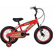 "Bumper Burnout 14"" Wheel Kids Pavement Bike Red Stabilisers"