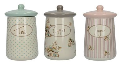 Creative Tops Katie Alice Cottage Flower Tea, Coffee and Sugar Storage Jars Jar