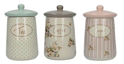 Creative Tops Katie Alice Cottage Flower Tea, Coffee and Sugar Storage Jars Jar