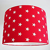 Red Star, Large Fabric Lampshade / Lightshade