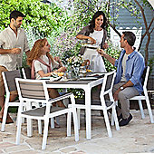 Allibert Harmony Dining Table and 6 Chairs