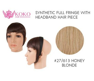 Synthetic Full Fringe With Headband Hair Piece-#27/613 Honey Blonde
