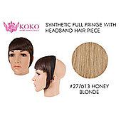 Synthetic Full Fringe With Headband Hair Piece-#27/613 Honey Blonde