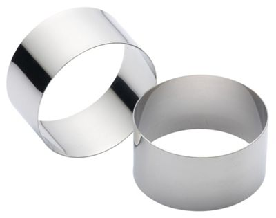 K/Craft Stainless Steel Large Cooking Rings 9cm, Set of Two, Clam Packed