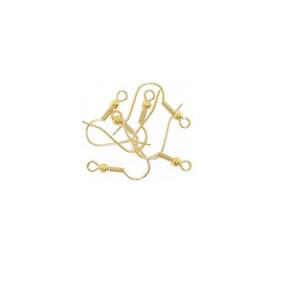 Craft Factory Ear Wires With Hooks 6pk Gold Plated
