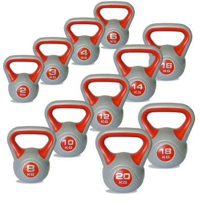 Body Power 2-20kg Vinyl Kettlebells Set of 11