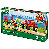 BRIO 33756 Fun Park Clown Train for Wooden Train Set