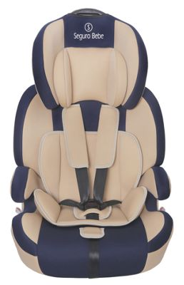 Seguro Bebe Bravo Isofix Group 1 2 3 Child Car Seat - Beige on Navy
