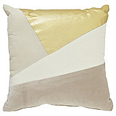 Tesco Metallic Block Cushion