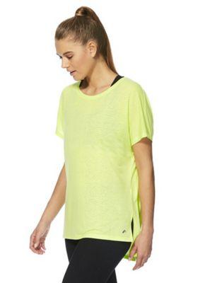 F&F Active Burnout T-Shirt Lime M