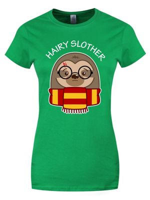 Hairy Slother Women's Green T-shirt