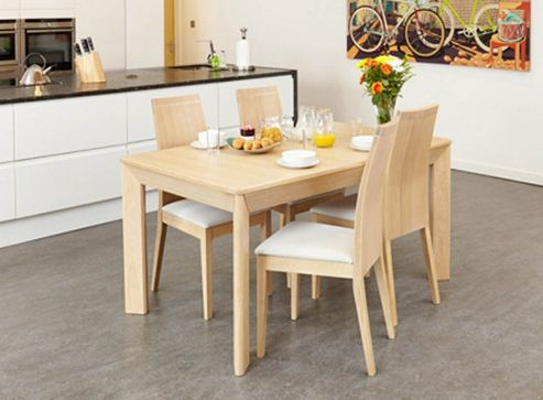 Baumhaus Olten Uno - Extending Dining Table in Light Oak Finish