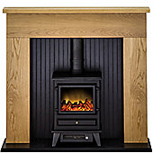 Adam Innsbruck Oak Electric Stove Suite