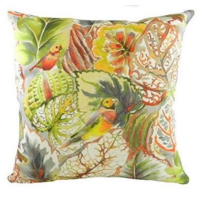 Evans Lichfield Summertime Tropical Lovebirds Pebble Filled Cushion