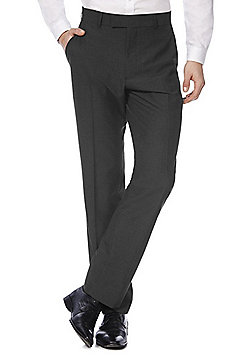 F&F Regular Fit Suit Trousers - Charcoal
