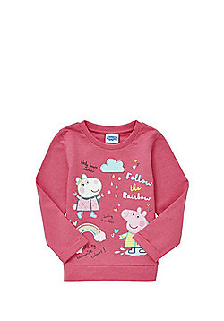 Peppa Pig Rainbow Design Sweatshirt - Pink