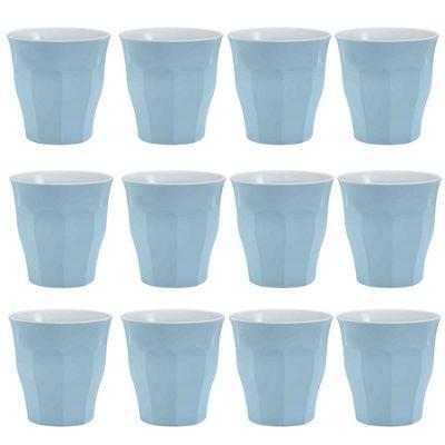 Duralex Picardie Coloured Water Tumbler Glasses - 220ml - Blue - x12