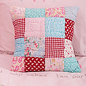 Tea Party Quilted Children's Cushion