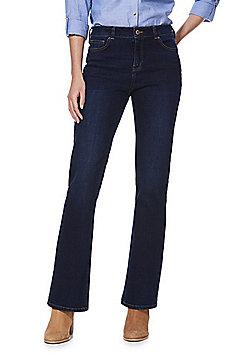 F&F Mid Rise Bootcut Jeans - Indigo