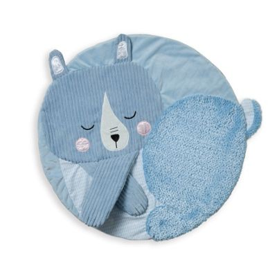 Travel + Comfort Tactile Travel Play Mat Blue Bear 0m+
