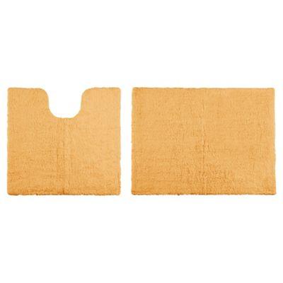 buy tesco reversible pedestal and bath mat set amber from. Black Bedroom Furniture Sets. Home Design Ideas
