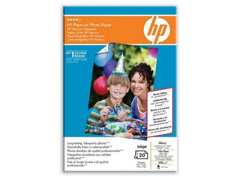 Hewlett-Packard Q1991A Glossy Premium Photo Paper 10x15cm (20 Sheets)