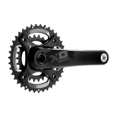 Truvativ X0 Chainset BB30 2x10sp 170mm Black 42-28t Bearings NOT incl