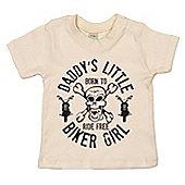 Dirty Fingers Daddy's Little Biker Girl Baby T-shirt - Cream