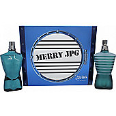 Jean Paul Gaultier Le Male Merry JPG Gift Set 125ml EDT + 125ml Aftershave Lotion For Men