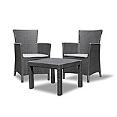 Allibert Rosario Balcony Set - Graphite Grey