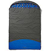Coleman Basalt Sleeping Bag Grey and Blue Double Season 2 Size Double